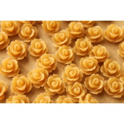 CLOSEOUT - 30 pc. Frosted Cafe Au Lait Rose Cabochon 10mm | RES-452